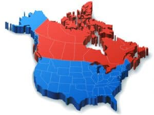 Freight Broker Company map of North America
